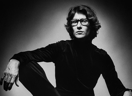 Portrait de Yves Saint Laurent