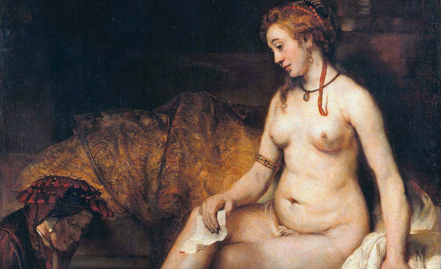 Bathsheba with David's letter, by Rembrandt