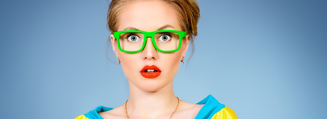 Eyewear brands to consider for smaller face: bright glamor small