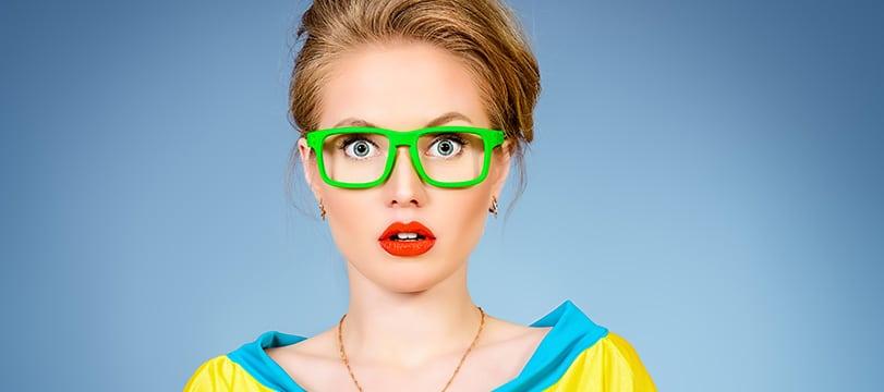 © Bright fashion. Optics, eyewear. Studio shot
