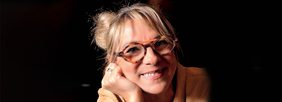 portrait de la créatrice de lunettes Sabine B