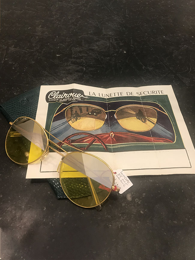 lunettes vintage de securité marque clairvue