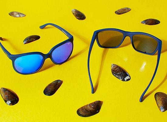 des lunettes en coquillage