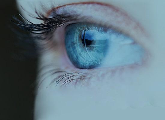 Oeil regardant devant