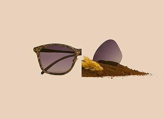 Ochis Coffee, lunettes fabriquées en marc de café