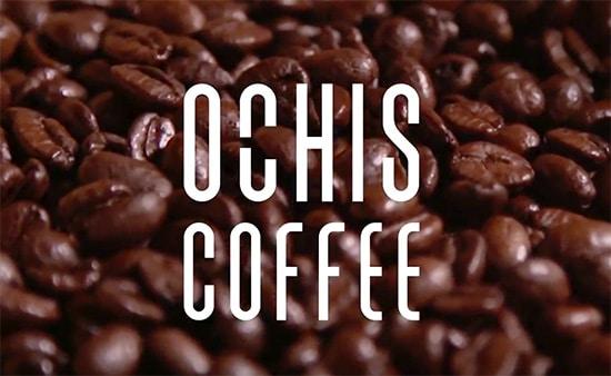 Grains de cafés illustrant les lunettes Ochis Coffee