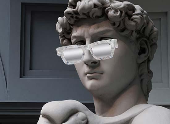 lunettes ou oeuvres d'art - carré