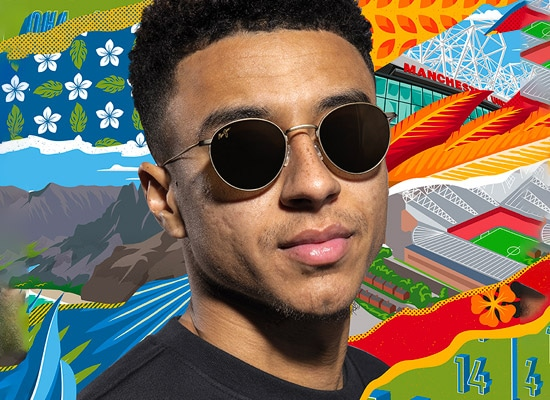 eyewear collabs - maui jim & manchester united square