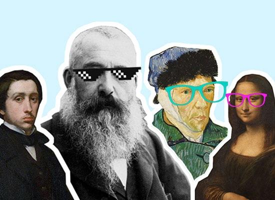 peintres et lunettes - carré