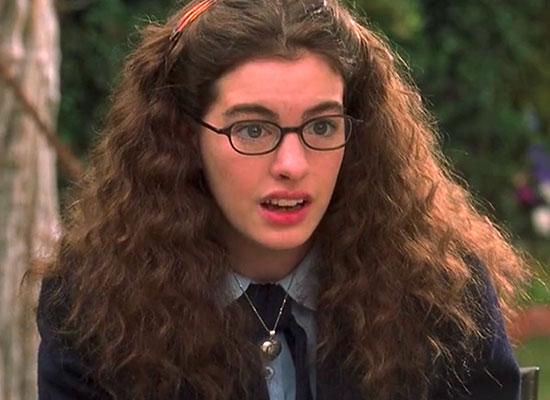 je suis belle sans mes lunettes Anne Hathaway, The princess diaries carre