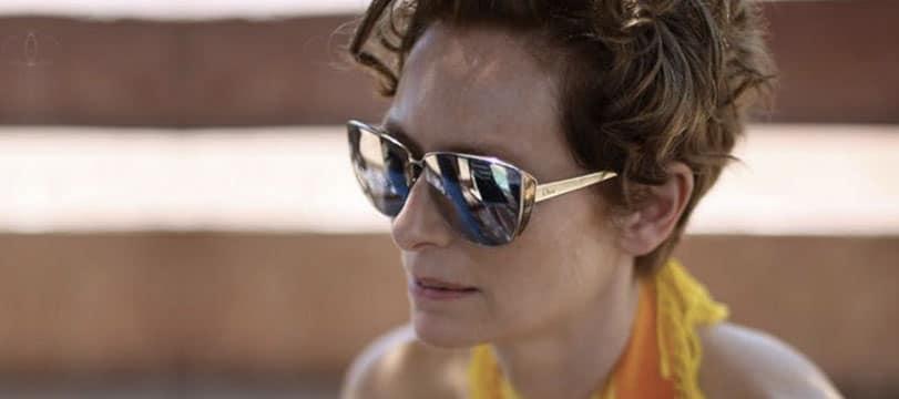 © Tilda Swinton et ses lunettes Dior dans A Bigger Splash